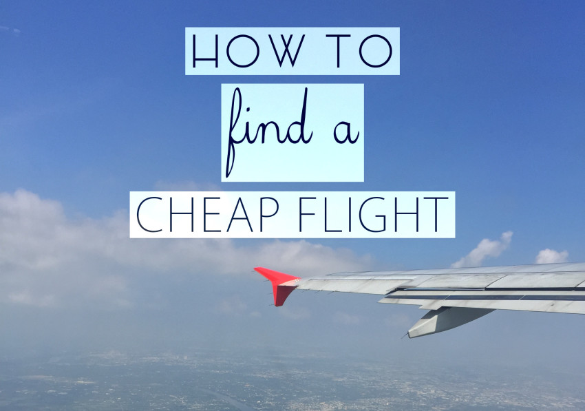 How to find a cheap flight the lavish nomad for How to find cheapest flight